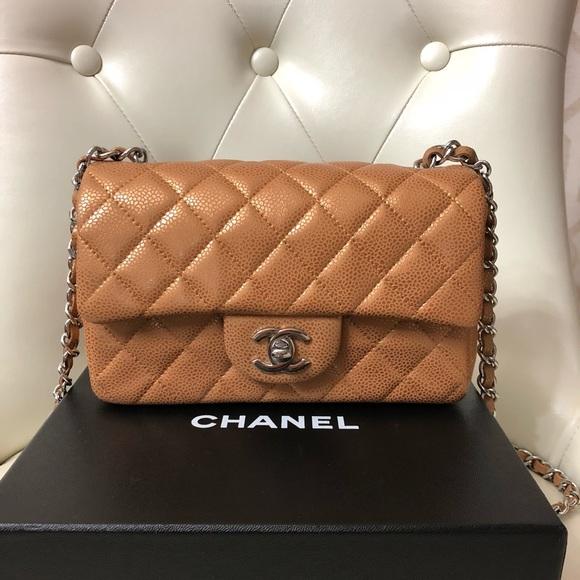 b38ac0ca91c1 CHANEL Handbags - New Chanel mini caramel gold washed caviar SHW bag